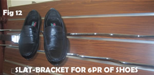 6 shoe slat hook