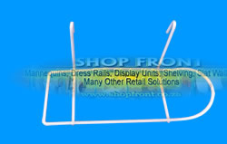 White Shoe Hook Grid Mesh Display