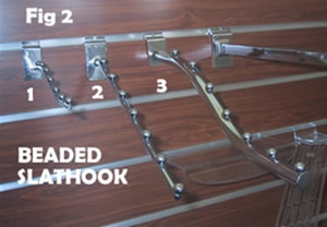 down slopping slat hook