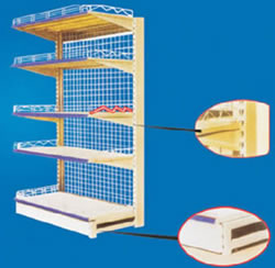 Single Sided Gondola Shelving